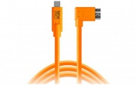 TETHERTOOLS - TetherPro USB-C to Micro-USB 3.0 Right Angle (15' - Orange)