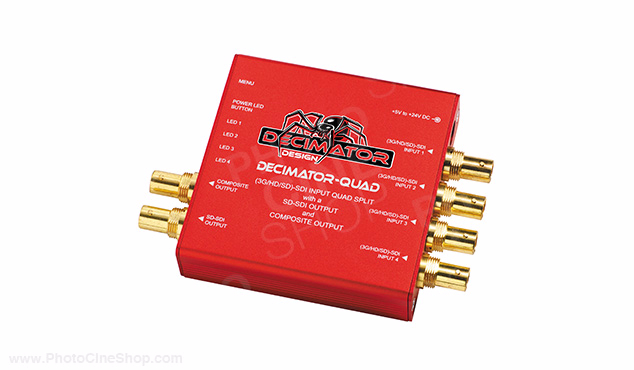 DECIMATOR - DECIMATOR-QUAD - 3G/HD/SD-SDI Quad Split, SD-SDI & Comp. Outputs