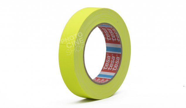 TESA - Gaffer matte yellow FLUO 25mm x 25m